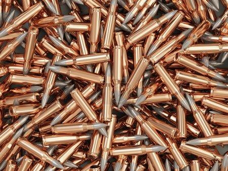 Photo pour Tas de balles de fusil fond - image libre de droit