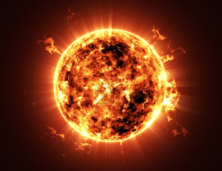 Photo for Abstract Illustration of an a Big Sun Star in Space - Royalty Free Image