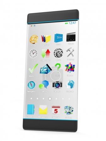 Smart Phone with Transparent Display