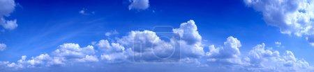 Panoramic photo of blue sky