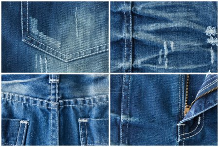Set of jeans textures backgrounds