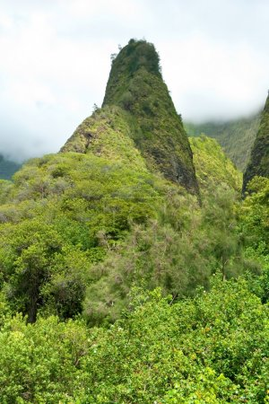 Iao Needle in Valley State Park on Maui Hawaii