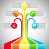 Vector infographics in a rainbow