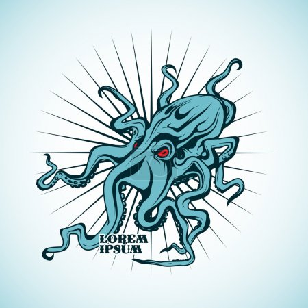 Illustration for Vector illustration of an octopus. - Royalty Free Image