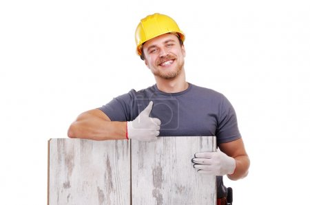 Smiling carpenter