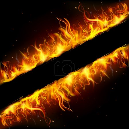 Illustration for Illustration of frame made of fire flame - Royalty Free Image