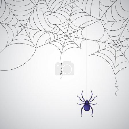 Illustration pour Illustration du motif de toile d'araignée sur fond abstrait - image libre de droit