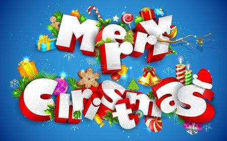 Illustration pour Illustration du texte Joyeux Noël avec un autre élément - image libre de droit