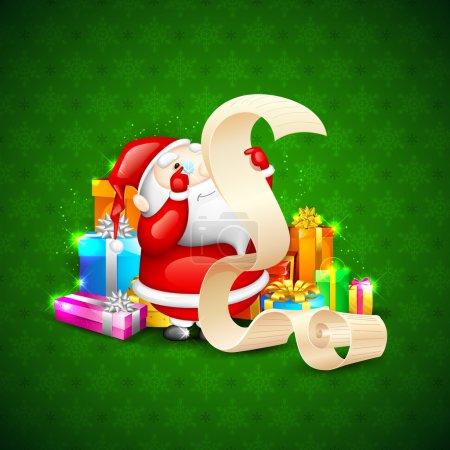 Santa with Christmas Gift