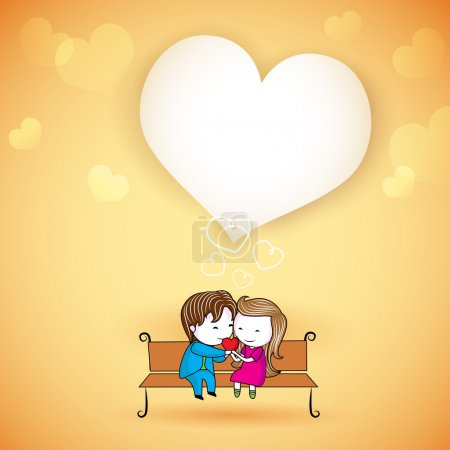 Happy loving Couple on Love Background