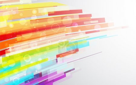 Illustration for Illustration of colorful stripe on abstract background - Royalty Free Image