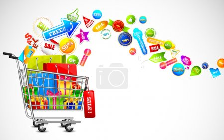 Shopping Cart full of Sale Product