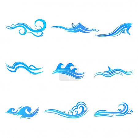 Set of Wave Symbol