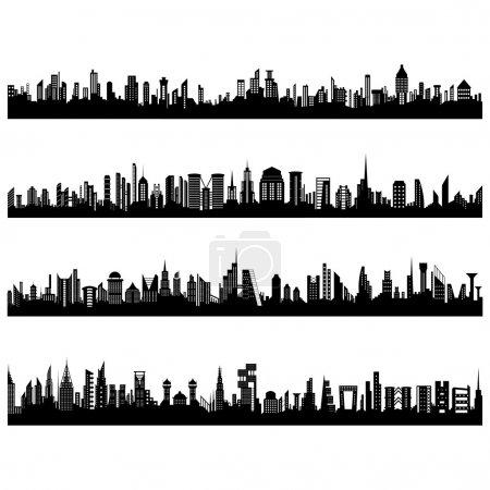 Set of Cityscape