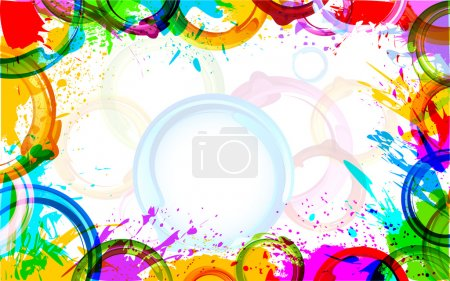 Illustration for Illustration of colorful grunge making frame - Royalty Free Image