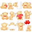 Illustration of teddy bear in different pose for l...