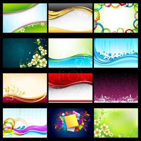 Illustration pour Illustration de la collection de fond vectoriel à des fins de conception - image libre de droit