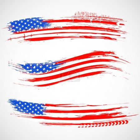 Grungy American Flag Banner