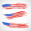 Illustration of Grungy American Flag Banner for In...