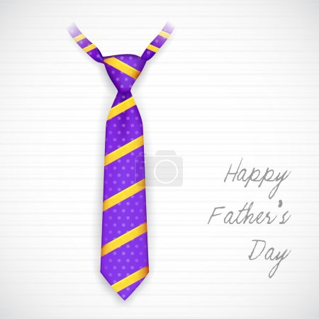 Illustration for Illustration of stylish tie in Father's Day card - Royalty Free Image