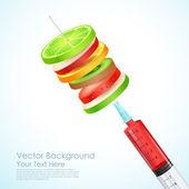 Healthy Fruit in Syringe
