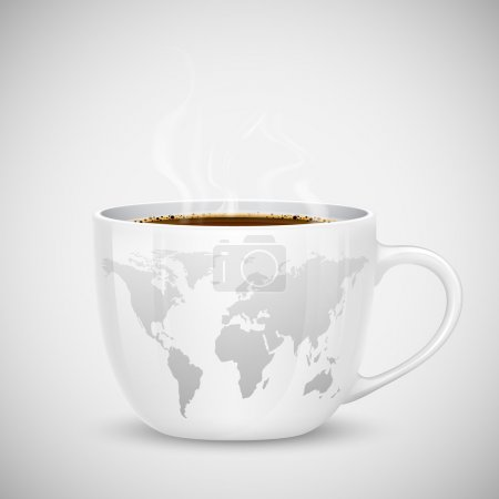 World Map on Cup