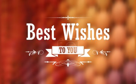 Best Wishes Typography Background