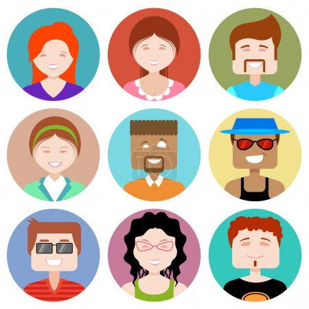 Illustration for Illustration of flat design people icon - Royalty Free Image