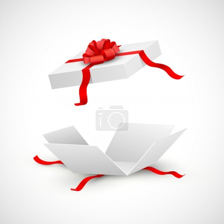 Illustration for Illustration of open gift box surprise - Royalty Free Image