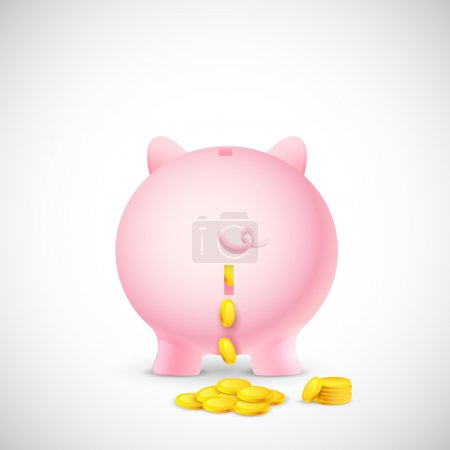 Coin falling from Piggy Bank