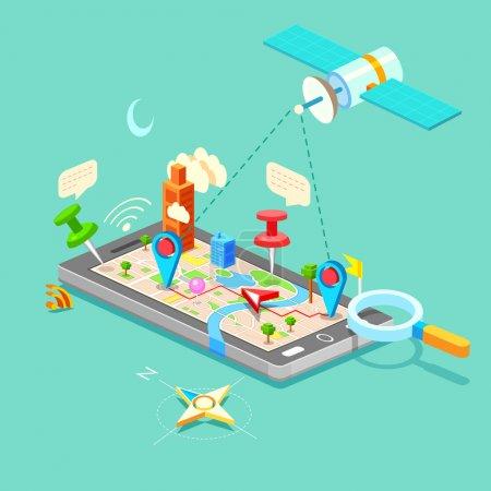Navigation dans le téléphone portable