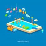 Illustration of e commerce online shopping concept...