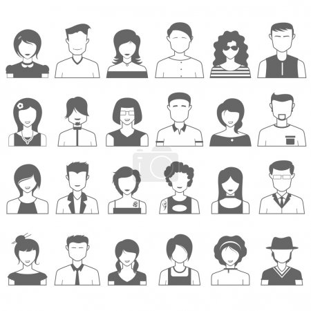 Illustration for Illustration of simple and clean people icon - Royalty Free Image