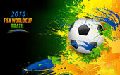 Illustration of soccer ball in FIFA World Cup background