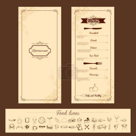 Template for Menu Card