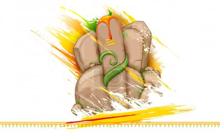 Lord Ganesha made of rock for Ganesh Chaturthi
