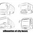 On the image the abstract silhouette of the bus is...