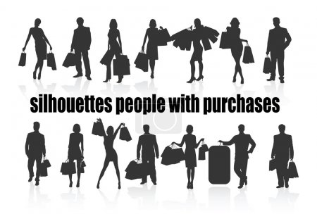 Silhouettes with purchases