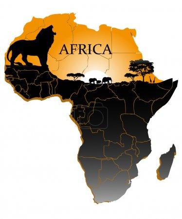 Illustration pour Sur l'image du continent africain est présenté - image libre de droit