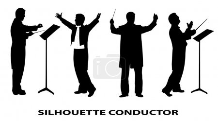 Silhouette of the conductor