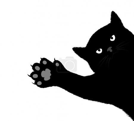 Illustration pour Griffes de chat gratter un fond - image libre de droit