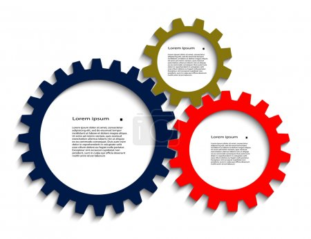 Color pinion gears with a place for your text