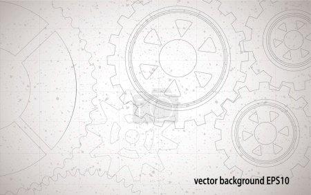 Illustration pour Contexte technologique abstrait - image libre de droit