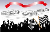 Car racing and fans