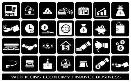 Ilustración de Icon web on a subject business finance economy - Imagen libre de derechos