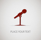 Microphone icon on seamless background