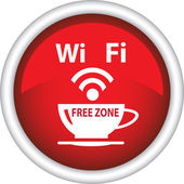 A red icon with the image of a cup of coffee and Wi Fi