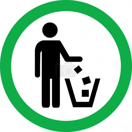 Illustration for No littering vector sign - Royalty Free Image
