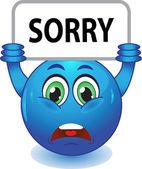Blue smiley apologizes