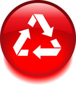 Red vector icon with the processing of